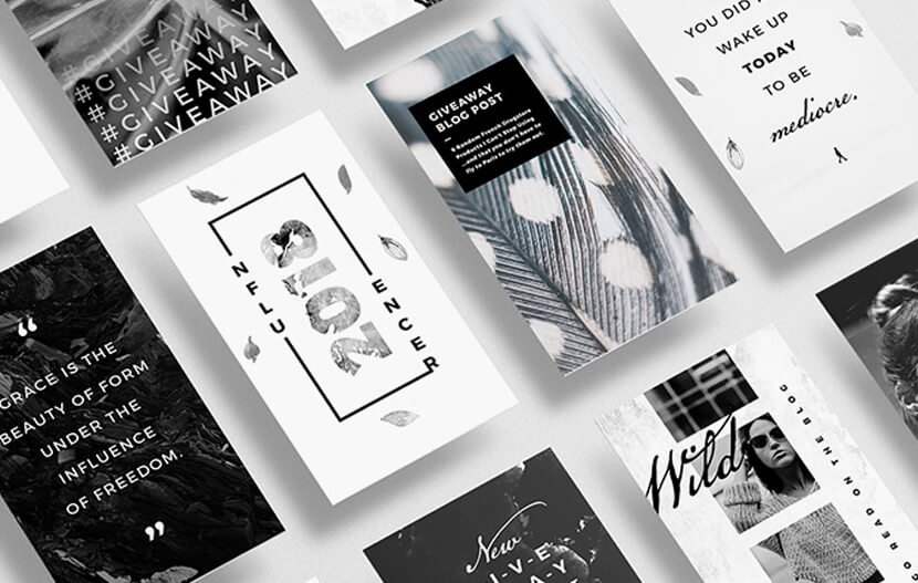15 Artistic Black-and-White Free Instagram Story Templates