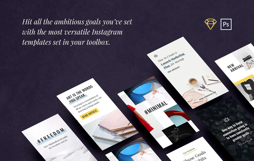 30 Everyday Instagram Templates for Stories & Posts Freebie