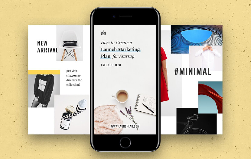 8 Instagram Story Free Templates with Soft and Clean Design