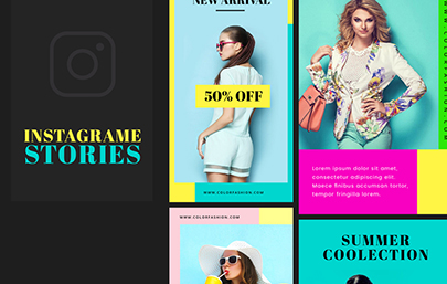6 Colorful Templates for Instagram Stories