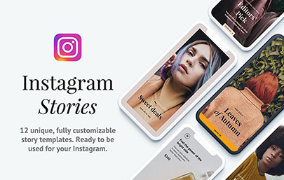 A set of 12 Instagram Stories Templates