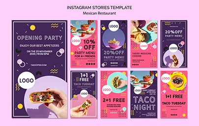Colorful Modern Instagram Story Templates