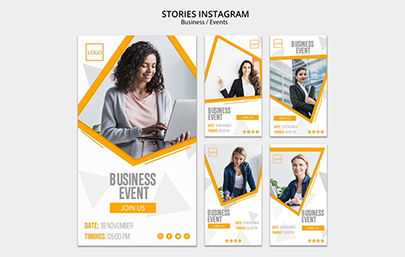 Business Event Instagram Story Set