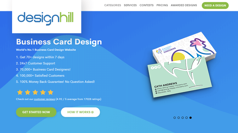 Designhill - Business Card Graphic Maker