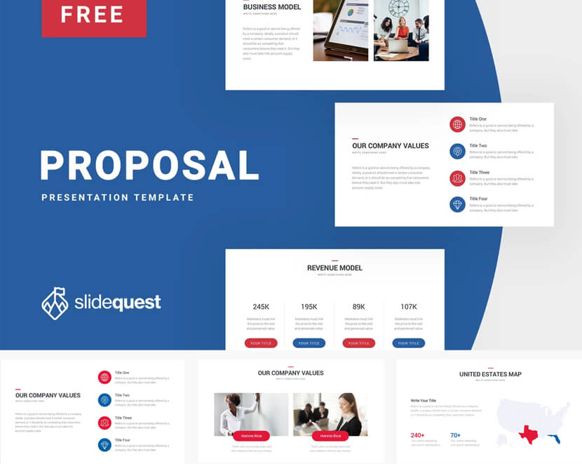 Proposal Free Business Google Slides Presentation Template