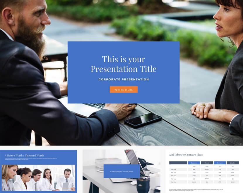 Master Business Free Presentation Template for google slides