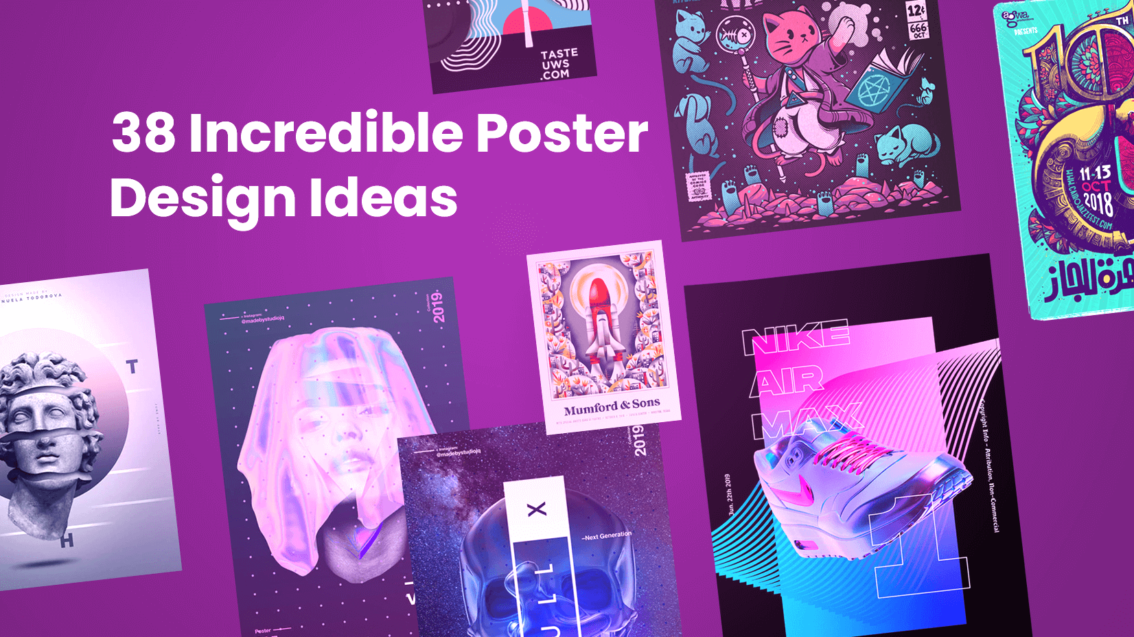 38 Incredible Poster Design Ideas that Impress with Creativity and Style