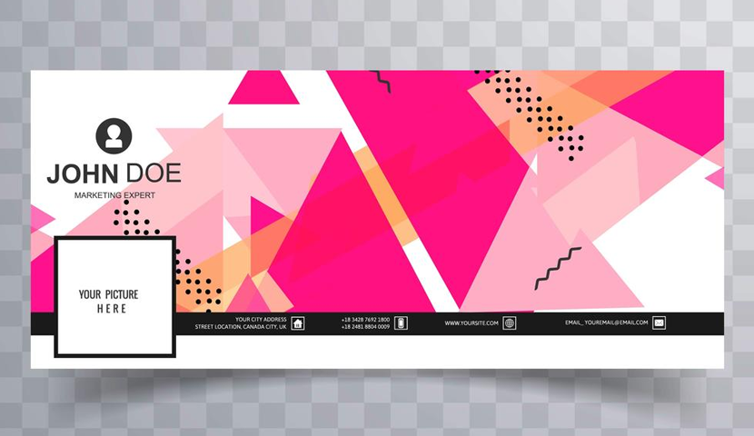 Free Facebook Cover Template by Vecteezy 5