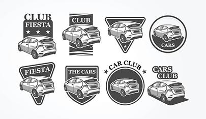free car vector badges