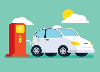 free car vector charging