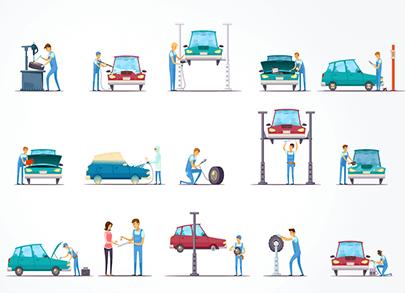 free car vector repair garage
