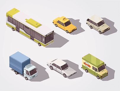 free car vector isometric