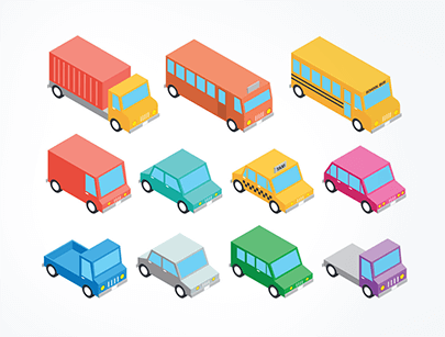 free car vector isometric transportation