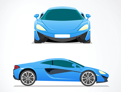 elegant blue sports car free vector