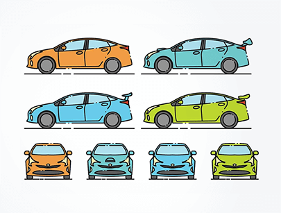 free car vector minimlaist