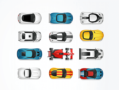 sport cars top free vector