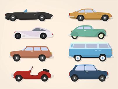 free car vector classic