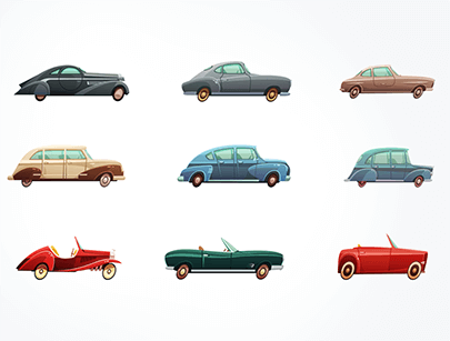 free car vector classic sport