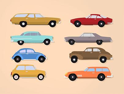 fee car vector flat classic