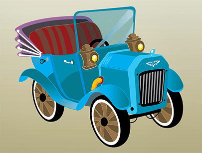 free car vector old timer