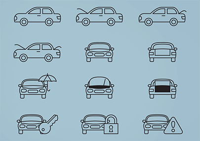free vector car service icons