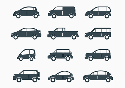free car vector icons-decorative vehicles