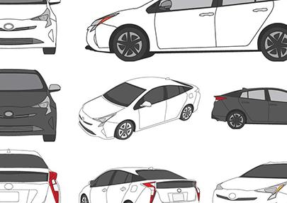 free car vector prius
