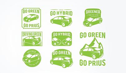 free vector car prius green