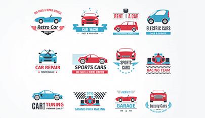 free car vector logo set