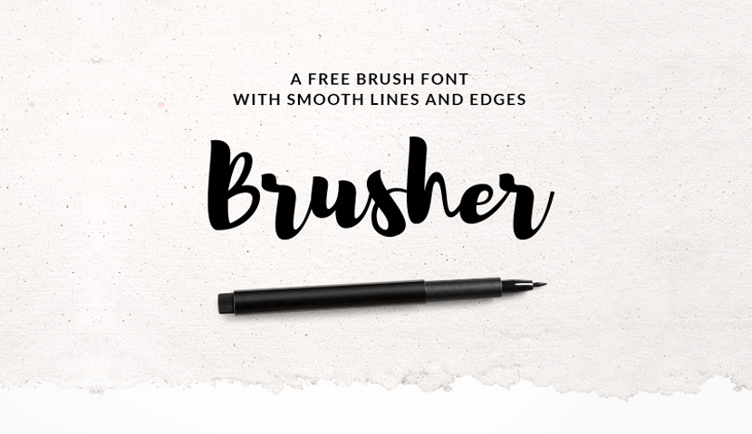brusher free hand drawn font