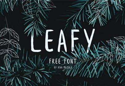 leafy free hand drawn font
