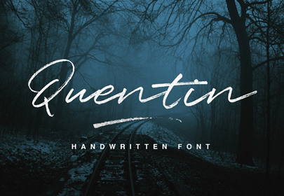 quentin free hand drawn font