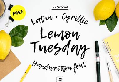 lemon tuesday free hand drawn font