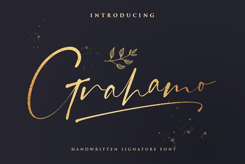 grahamo luxury free hand drawn font