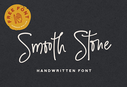 Fuentes manuscritas gratis, fuente dibujada a mano de piedra lisa
