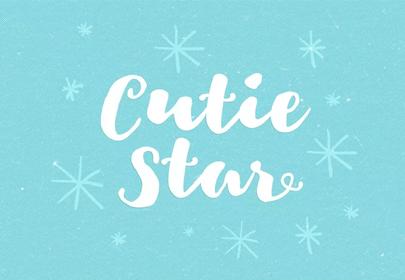 cutie star free hand drawn font