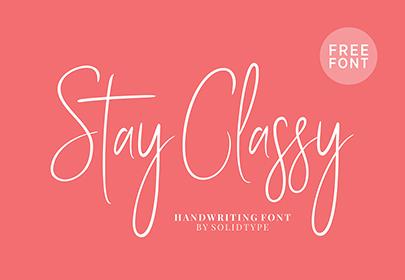 stay classy free hand drawn font