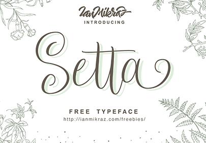setta free hand drawn font