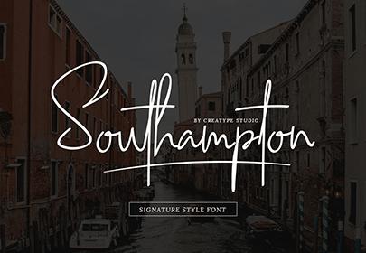 southampton free hand drawn font
