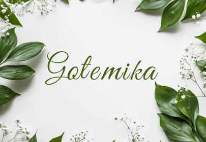 gotemika free hand drawn font