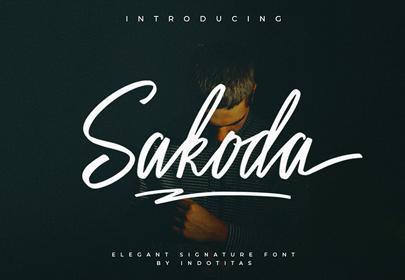 sakoda signature free hand drawn font