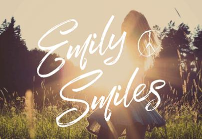 emily smiles free hand drawn font