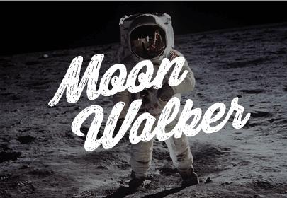 fuente dibujada a mano libre de moon walker