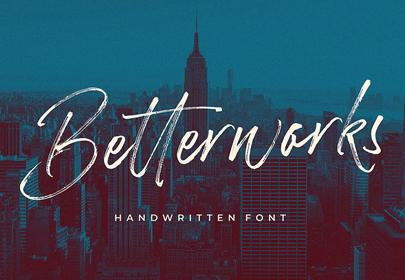 betterwork free hand drawn font