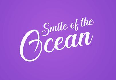 sonrisa de la fuente dibujada a mano libre del océano