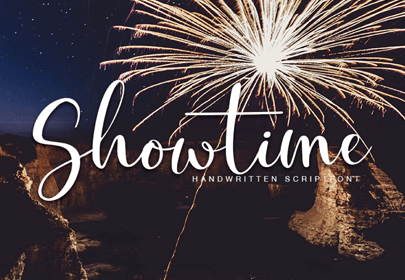 showtime free hand drawn font