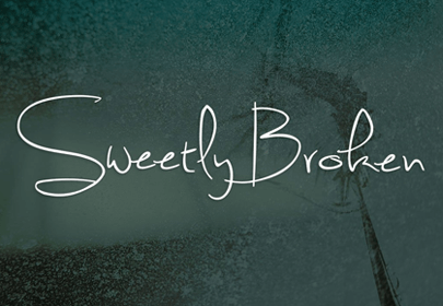 sweetly broken free hand drawn font