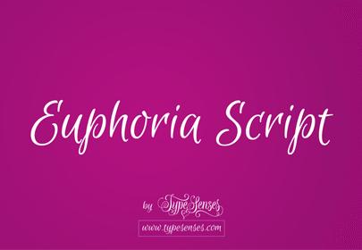 euphoria free hand drawn font