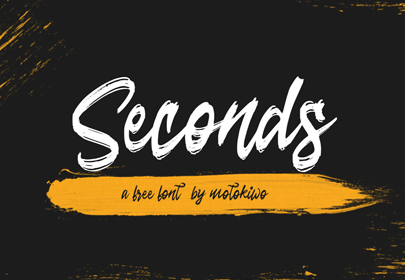 fuente dibujada a mano libre de segundos