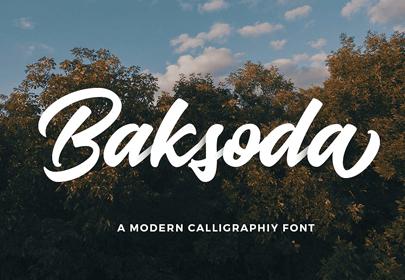baksoda free hand drawn font